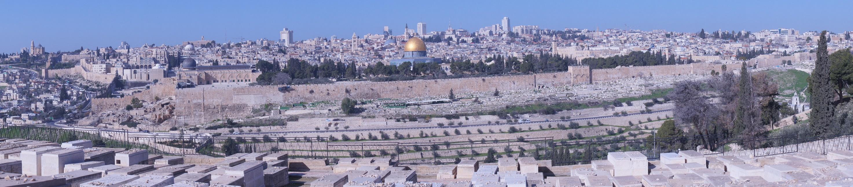 Jerozolima, widok z Góry Oliwnej